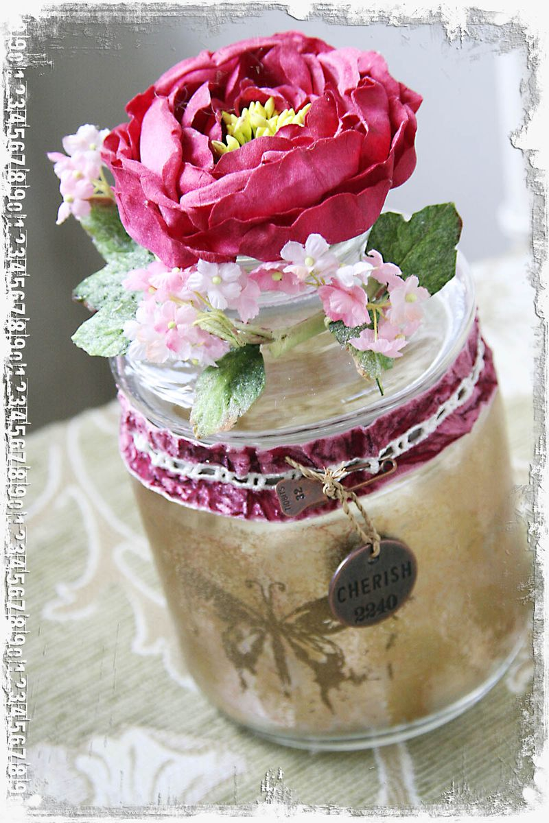 Cherish Keepsake Vintage Jar mf